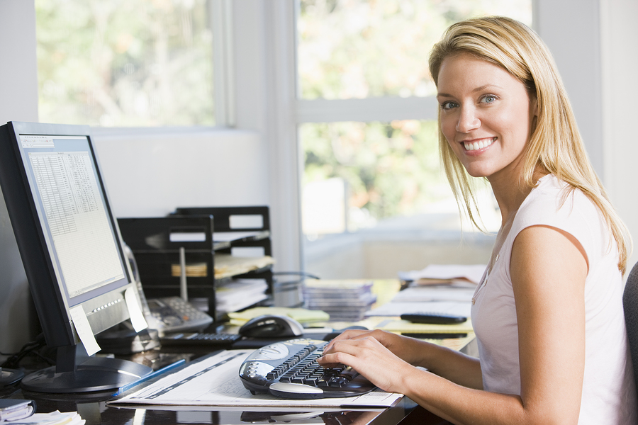 bigstock-Woman-In-Home-Office-With-Comp-4137508